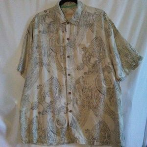 Tommy Bahama Men's 100% Camp Shirt Lg